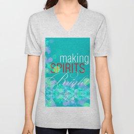Making Spirits Brights Bokeh Unisex V-Neck