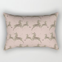 Royal Tenenbaums Zebra Wallpaper - Dusty Pink Rectangular Pillow