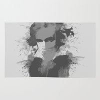 beethoven Area & Throw Rugs featuring BEETHOVEN by Resistance