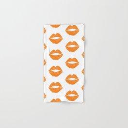 Orange LIps Hand & Bath Towel