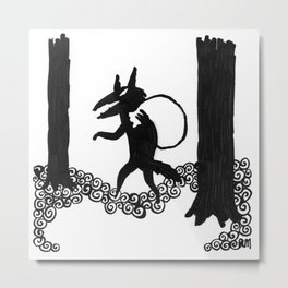 Wolf with Swag Metal Print