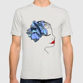Blue Rose Headpiece T-shirt