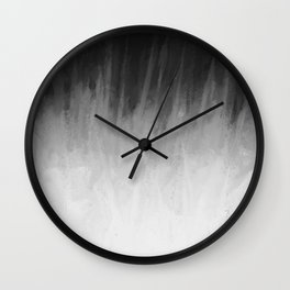 Ice Rays in a Black Sky Wall Clock