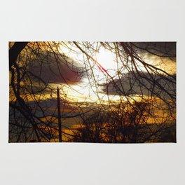 Idaho Trees - Dark Tree Fire Sky - Jeronimo Rubio Photography 2016 Rug