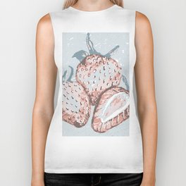 Textured Strawberry Biker Tank