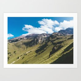 View Hiking up Iztaccihutal Volcano, Mexico City Art Print
