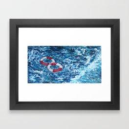 Two Lifesavers Framed Art Print