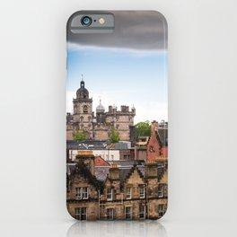 View of Edinburgh architecture from Victoria Street iPhone Case