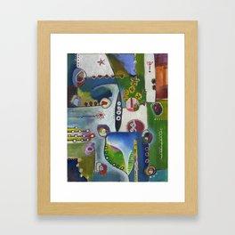Suburban Maze Framed Art Print