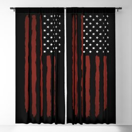 Dark USA flag Blackout Curtain