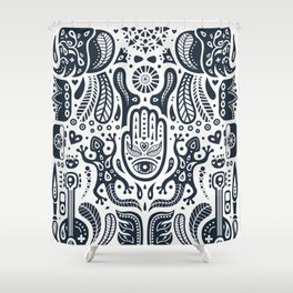 Folklore Pattern 2 Shower Curtain