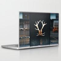 door Laptop & iPad Skins featuring door by MengMeng