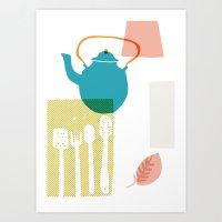 Blue Kettle Art Print