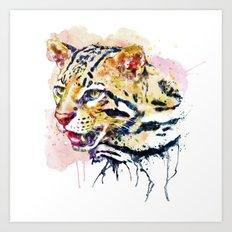 Ocelot Head Art Print