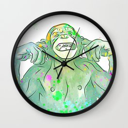 Silly Monkey - Current Mood - Pop Art Wall Clock