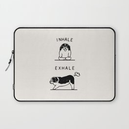 Inhale Exhale  St. Bernard Laptop Sleeve