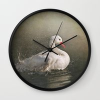 bath Wall Clocks featuring The bath by Pauline Fowler ( Polly470 )