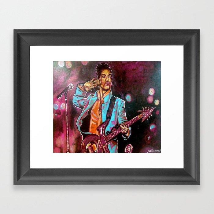 Purple Funk Framed Art Print
