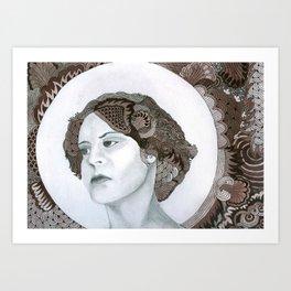 Haloed Lady For Sale!!! Art Print