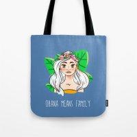 ohana Tote Bags featuring Ohana by Jessi's Art
