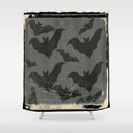 ANTIQUE  SHABBY CHIC  BATS ART DESIGN Shower Curtain