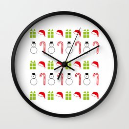 Christmas Icons Wall Clock