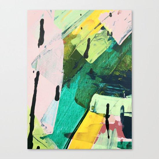 Hopeful[4] - a bright mixed media abstract piece Canvas Print
