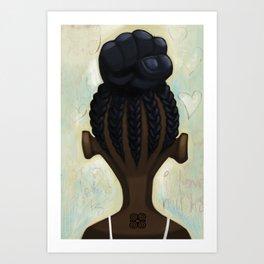 strong hair Art Print