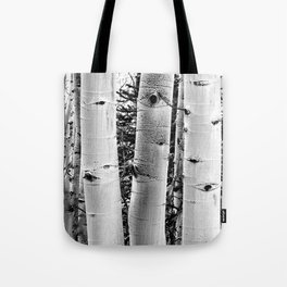 Three Aspens Black & White Tote Bag