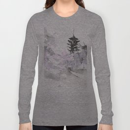 Sumie No.7 five story pagoda Long Sleeve T-shirt