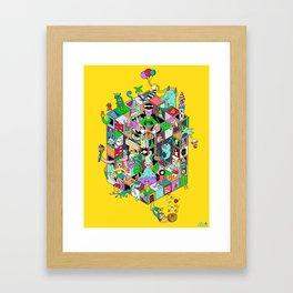 Isometric Playground Framed Art Print