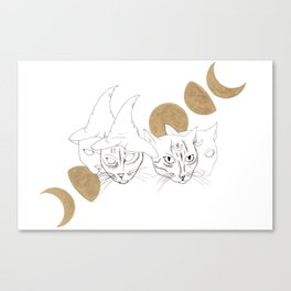 Witchcats Canvas Print