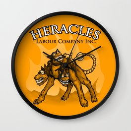 Heracles Labour Company (Cerberus) Wall Clock