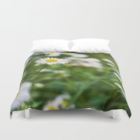 daisies Duvet Covers featuring Daisies by Michelle McConnell