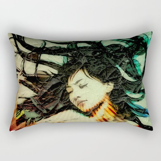 Girl's Dream in a Dream. Rectangular Pillow