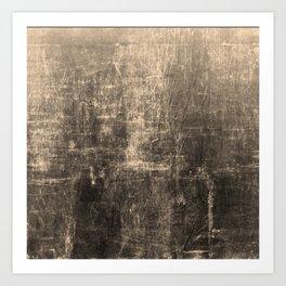 Gold Crinkled Paper Art Print