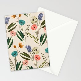 Floral 247 Cream Stationery Cards