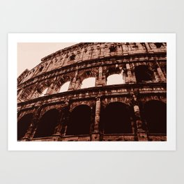 Ancient Colosseum, Rome Art Print