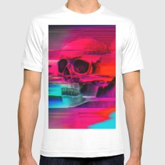 Mortality Glitch Mens Fitted Tee MEDIUM White