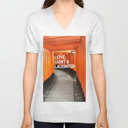 Love, Light & Laughter Unisex V-Neck
