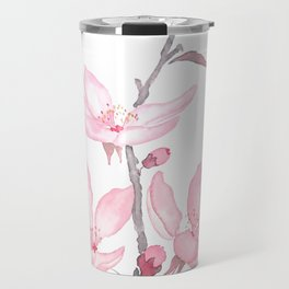 pink cherry blossom macro 2018 Travel Mug