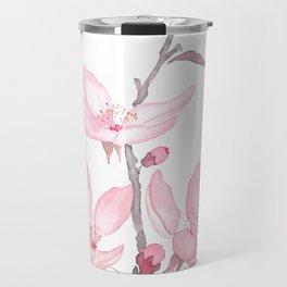 pink cherry blossom macro 2018 Travel Mug