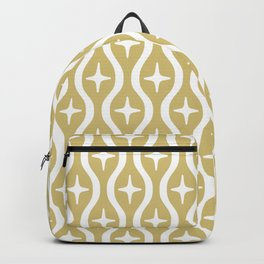 Mid century Modern Bulbous Star Pattern Gold Backpack