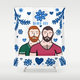 Beard Boy: Couple of Men - Karl & Daan Shower Curtain