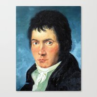 beethoven Canvas Prints featuring Beethoven by SuchDesign