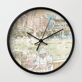 Sunday at Klyde Warren Wall Clock