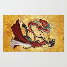Chinese dragon Rug