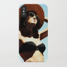 Beach girl iPhone X Slim Case
