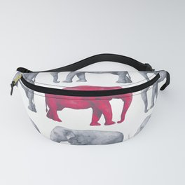 Elephants Red II Fanny Pack