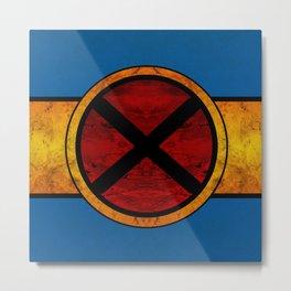 X-Men Cyclop Logo Metal Print